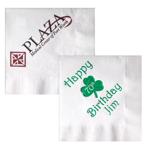 custom imprinted dinner napkins