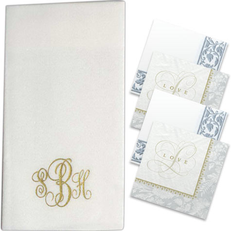 custom imprinted wedding napkins